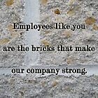 Employee Service Anniversary Thank You Card - Cement Wall by MotherNature