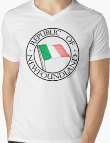 Original Republic of Newfoundland Mens V-Neck T-Shirt