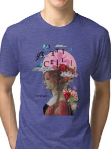 Collage italian Florence spirit renaissance Tri-blend T-Shirt