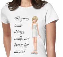 """Namine """"Best Left Unsaid"""" Womens Fitted T-Shirt"""