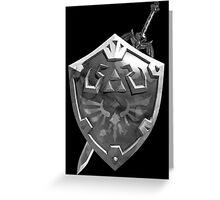 Zelda Sword and Shield BnW Greeting Card