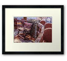 The Park Bench Framed Print
