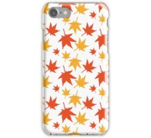 Maple leaves iPhone Case/Skin