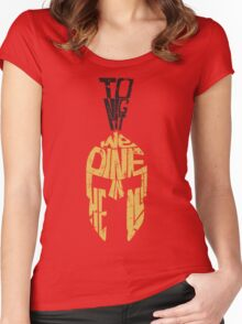 Tonight we dine in HELL!! Women's Fitted Scoop T-Shirt