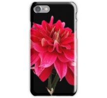 red on black iPhone Case/Skin
