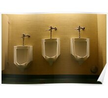 Urinals 3 Poster