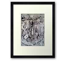 graphic thought Framed Print