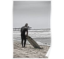 Never too old to Surf !!!! - Huntington Beach, CA Poster