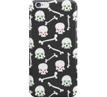 Skulls with burning eye-sockets iPhone Case/Skin
