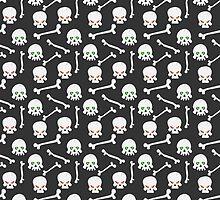 Skulls with burning eye-sockets by kylmaviha