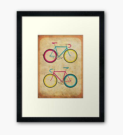 CMYK Bikes ~ Series 1 Framed Print