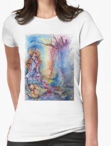 LADY OF LAKE  / Magic and Mystery Womens Fitted T-Shirt