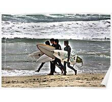 """Surfers"" Huntington Beach,CA Poster"