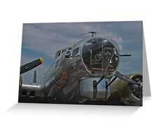 Front gunner position on the B-17G SuperFortress Greeting Card