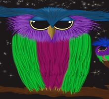 The Prismatic Crested Owl by OneArtsyMomma