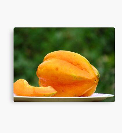 Papaya fruit Canvas Print