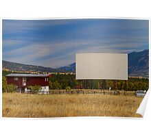 Classic American Retro Drive-In Theater Poster
