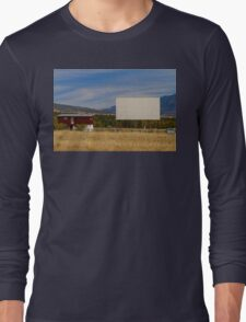 Classic American Retro Drive-In Theater Long Sleeve T-Shirt