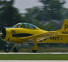 138239, N726A T-28B Trojan taking off by Henry Plumley