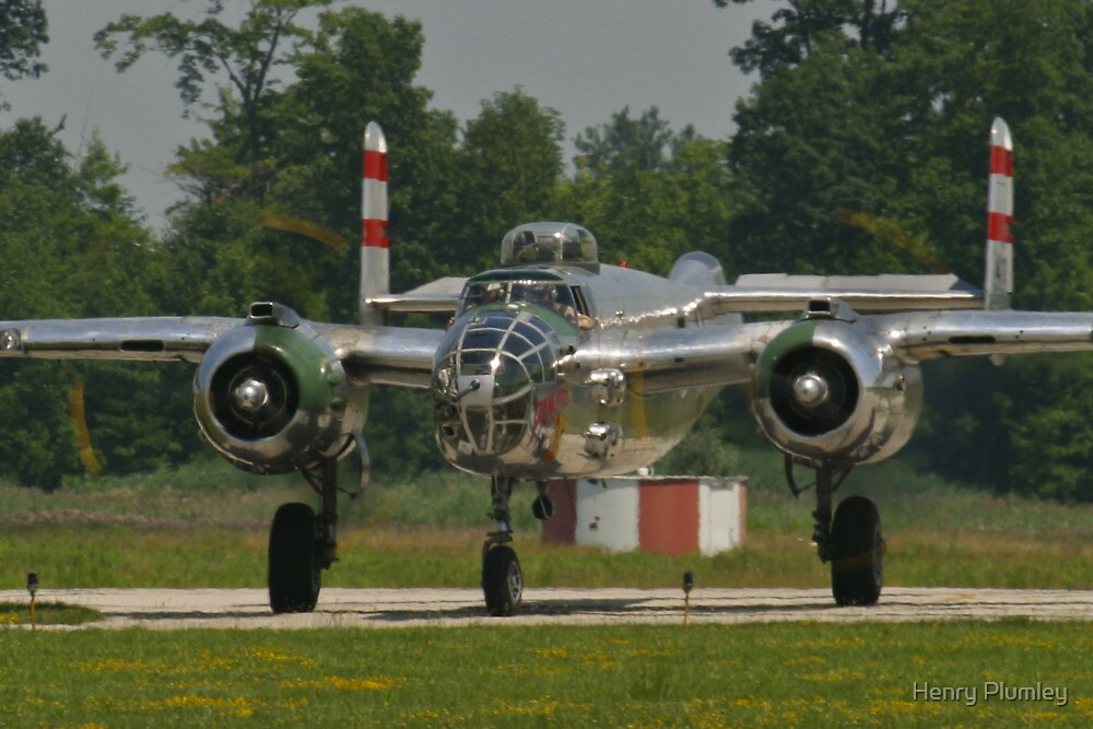 """B-25 Mitchell """"Panchito"""" taxis by Henry Plumley"""