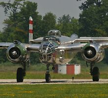 "B-25 Mitchell ""Panchito"" taxis by Henry Plumley"