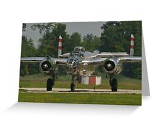 "B-25 Mitchell ""Panchito"" taxis Greeting Card"