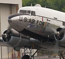"C-47B Skytrain ""Yankee Doodle Dandee"" taxis by Henry Plumley"