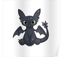 Cute little dragon -white- Poster