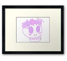 Susan the Skull in Pink Framed Print