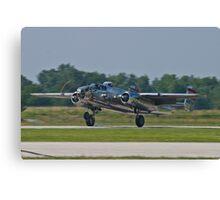 44-30734 1944 North American B-25N Mitchell lands Canvas Print