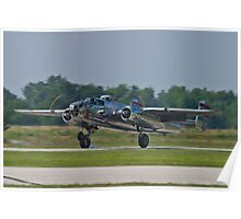 44-30734 1944 North American B-25N Mitchell lands Poster