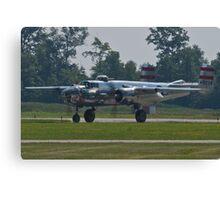 44-30734 1944 North American B-25N Mitchell taxis  Canvas Print