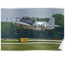 NL9584Z TBM-3 Avenger taking off Poster