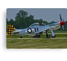NL1451D, North American P-51D Mustang taxis Canvas Print