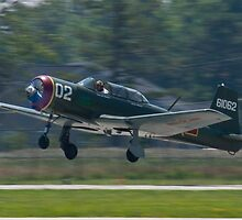NX62157 CJ-6A Nanchang, Green Dragon, taking off by Henry Plumley