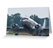 Tight shot of 44-76716, C-47B Skytrain Greeting Card