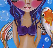 """Pisces (Zodiac Mermaid)""  by Jaz Higgins"