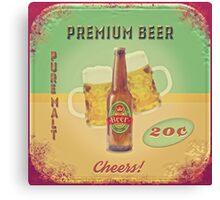 50s Premium Beer Pure Malt  Canvas Print