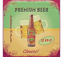 50s Premium Beer Pure Malt  Photographic Print
