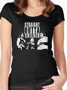 Straight Outta Guilder v2 Women's Fitted Scoop T-Shirt