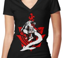 Zero and Mikhail Women's Fitted V-Neck T-Shirt