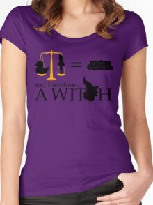 Monty Python - A Witch sketch Women's Fitted Scoop T-Shirt