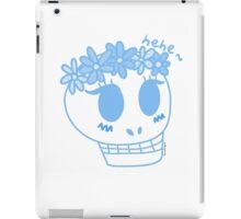 Susan the Skull in Blue iPad Case/Skin