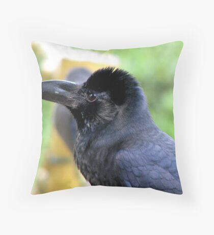 Common Raven Throw Pillow