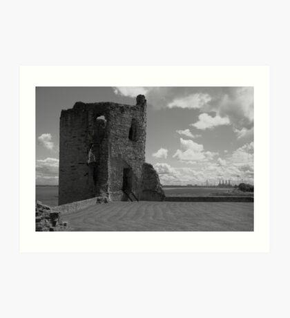 Flint Castle. North East tower. Art Print