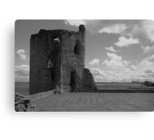Flint Castle. North East tower. Canvas Print