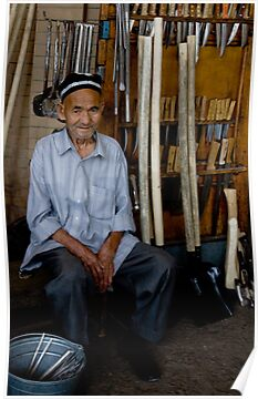 Old Man, Chorsu Bazaar by Gillian Anderson LAPS, AFIAP