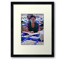 Cheese Lady, Chorsu Bazaar Framed Print