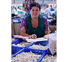Cheese Lady, Chorsu Bazaar Photographic Print