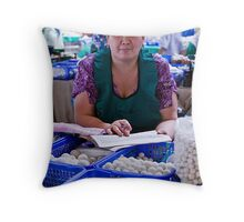 Cheese Lady, Chorsu Bazaar Throw Pillow